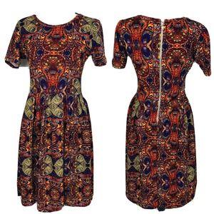 Lularoe Amelia Medium Short Sleeve A Line Dress